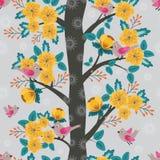 Δέντρο στο άνθος διανυσματική απεικόνιση