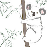 δέντρο συνεδρίασης koala διανυσματική απεικόνιση