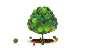 Δέντρο σφαιρών παιχνιδιών απόθεμα βίντεο