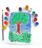 δέντρο σχεδίων Στοκ φωτογραφία με δικαίωμα ελεύθερης χρήσης