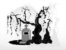 δέντρο ταφοπέτρων κάτω Στοκ Εικόνες