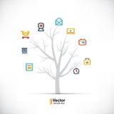 Δέντρο τεχνολογίας, επιχείρηση και διακλαδιμένος πορείες ελεύθερη απεικόνιση δικαιώματος