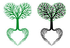 Δέντρο της ζωής, δέντρο καρδιών, διάνυσμα απεικόνιση αποθεμάτων