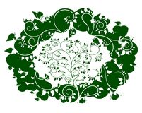 Δέντρο της Apple στο υπόβαθρο με τα πράσινα μήλα Στοκ εικόνες με δικαίωμα ελεύθερης χρήσης