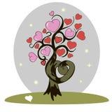 Δέντρο των καρδιών απεικόνιση αποθεμάτων