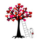 Δέντρο των καρδιών Στοκ Εικόνες