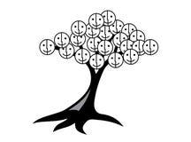 Δέντρο των χαμόγελων και της χαράς Δέντρο με το πρόσωπο smiley Στοκ Εικόνα