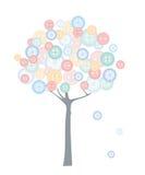 δέντρο υφασμάτων κουμπιών διανυσματική απεικόνιση