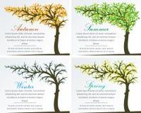 Δέντρο φαντασίας του Four Seasons Στοκ φωτογραφία με δικαίωμα ελεύθερης χρήσης