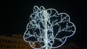 Δέντρο φωτισμού Χριστουγέννων απόθεμα βίντεο