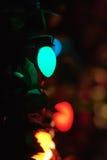 Δέντρο φω'των Χαρούμενα Χριστούγεννας Στοκ φωτογραφίες με δικαίωμα ελεύθερης χρήσης