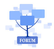 Δέντρο φόρουμ στο μπλε χρώμα Στοκ εικόνες με δικαίωμα ελεύθερης χρήσης