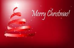 δέντρο χαιρετισμών Χριστουγέννων ελεύθερη απεικόνιση δικαιώματος
