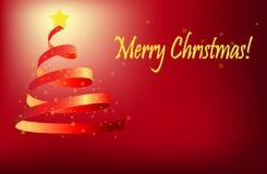 δέντρο χαιρετισμών Χριστο& ελεύθερη απεικόνιση δικαιώματος