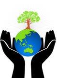 δέντρο χεριών σφαιρών ελεύθερη απεικόνιση δικαιώματος