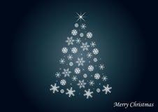 δέντρο χιονιού ανασκόπηση&si Στοκ Εικόνα