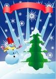 δέντρο χιονιού ατόμων έλατ&omicro απεικόνιση αποθεμάτων