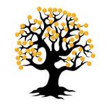 δέντρο χρημάτων νομισμάτων Στοκ Εικόνες