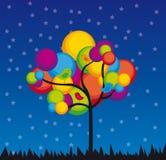 δέντρο χρωμάτων διανυσματική απεικόνιση