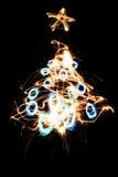 δέντρο Χ MAS sparkler Στοκ Εικόνα