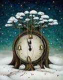 Δέντρο Сlock ελεύθερη απεικόνιση δικαιώματος