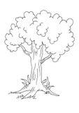 δέντρο bw απεικόνιση αποθεμάτων