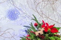 Δέντρο Chrismas και κόκκινη σφαίρα Στοκ φωτογραφίες με δικαίωμα ελεύθερης χρήσης