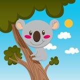 δέντρο koala διανυσματική απεικόνιση