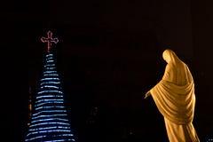 δέντρο Mary Άγιος Χριστουγέν&nu Στοκ φωτογραφία με δικαίωμα ελεύθερης χρήσης