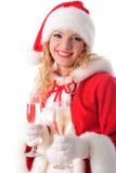 δέντρο santa κοριτσιών Χριστο&ups Στοκ εικόνες με δικαίωμα ελεύθερης χρήσης