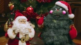 δέντρο santa Claus Χριστουγέννων απόθεμα βίντεο