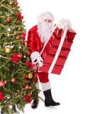 δέντρο santa Claus Χριστουγέννων Στοκ Φωτογραφίες