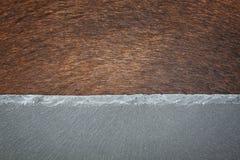 Δέρμα και πέτρα αγελάδων Στοκ εικόνα με δικαίωμα ελεύθερης χρήσης