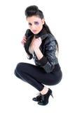δέρμα σακακιών κοριτσιών α Στοκ εικόνα με δικαίωμα ελεύθερης χρήσης