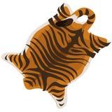 Δέρμα τιγρών ως τάπητα επίσης corel σύρετε το διάνυσμα απεικόνισης ελεύθερη απεικόνιση δικαιώματος