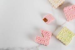 Δέρμα χιονιού mooncakes Στοκ Εικόνες