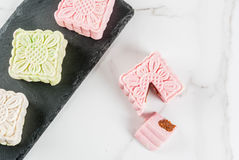 Δέρμα χιονιού mooncakes Στοκ Φωτογραφίες