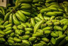 Δέσμες των μπανανών για την πώληση Στοκ Φωτογραφία