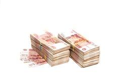 Δέσμες των ρωσικών χρημάτων Στοκ φωτογραφία με δικαίωμα ελεύθερης χρήσης
