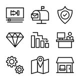 Δέσμη εικονιδίων επιχειρήσεων και χρηματοδότησης διανυσματική απεικόνιση