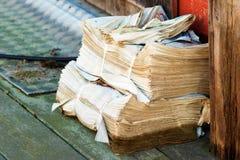 Δέσμη εφημερίδων Στοκ Φωτογραφία