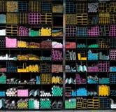 Δέσμη σωλήνων χάλυβα στο ράφι Στοκ εικόνες με δικαίωμα ελεύθερης χρήσης