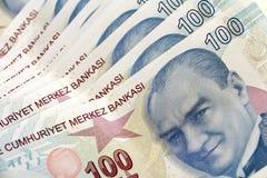 Δέσμη της τουρκικής λιρέτας Στοκ Εικόνα