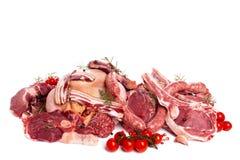 Δέσμη του ακατέργαστου κρέατος Στοκ Φωτογραφία