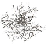 Δέσμη των λέξεων Διαδικτύου Στοκ εικόνες με δικαίωμα ελεύθερης χρήσης