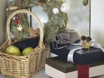 Δέσμη των κιβωτίων δώρων Στοκ Φωτογραφίες