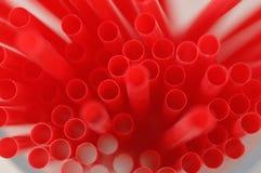 Δέσμη των κόκκινων αχύρων κατανάλωσης Στοκ εικόνα με δικαίωμα ελεύθερης χρήσης