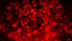 Δέσμη των οπτικών ινών στο κόκκινο φως στοκ εικόνες