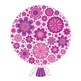 Δέσμη των τυποποιημένων ιωδών λουλουδιών Ελεύθερη απεικόνιση δικαιώματος