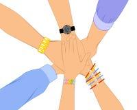 Δέσμη των χεριών Ελεύθερη απεικόνιση δικαιώματος
